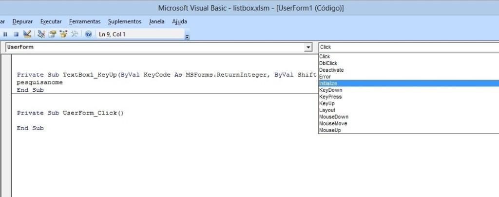 Pesquisa de Formulário avançada no listbox com VBA Excel